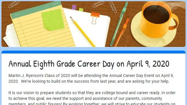Career Day Presenters Needed - Apply by March 27th